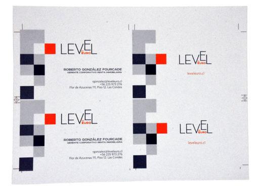 Tarjeta de Presentación Level Euro